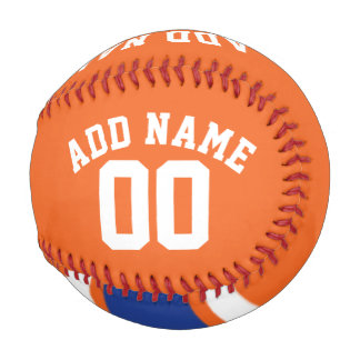 Team Jersey with Custom Name and Number Baseballs