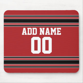 Team Jersey with Custom Name and Number Mouse Pad