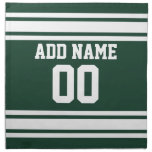Team Jersey with Custom Name and Number Cloth Napkin
