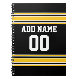 Team Jersey with Custom Name and Number Notebook