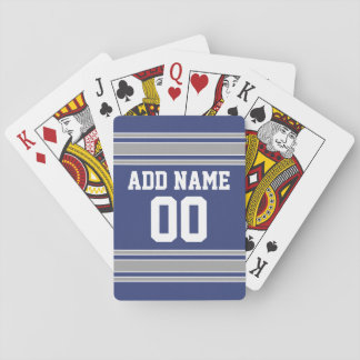 Team Jersey with Custom Name and Number Card Decks