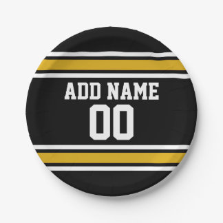 Team Jersey with Custom Name and Number Paper Plate