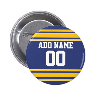 Team Jersey with Custom Name and Number Pinback Button