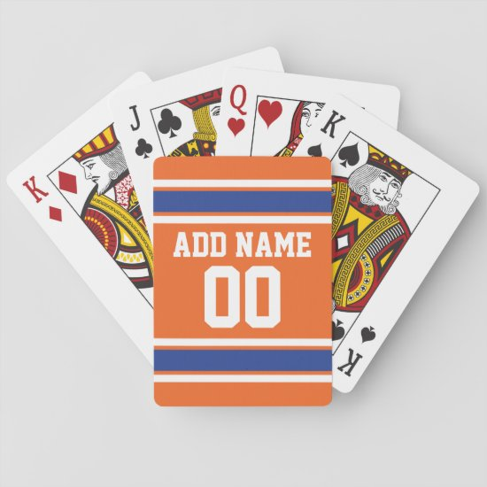 Team Jersey with Custom Name and Number Playing Cards