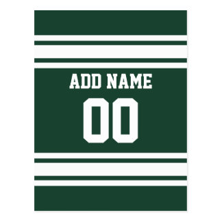 Team Jersey with Custom Name and Number Post Cards