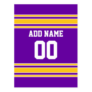 Team Jersey with Custom Name and Number Post Card
