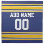 Team Jersey with Custom Name and Number Printed Napkin