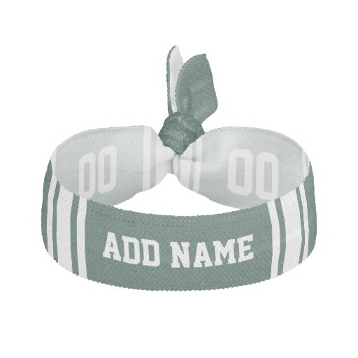 Team Jersey with Custom Name and Number Ribbon Hair Tie