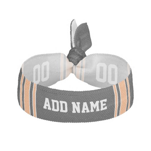 Team Jersey with Custom Name and Number Elastic Hair Ties