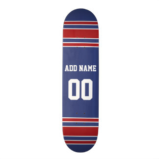 Team Jersey with Custom Name and Number Skateboard Deck