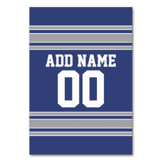 Team Jersey with Custom Name and Number Table Cards