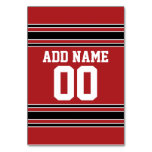 Team Jersey with Custom Name and Number Table Card