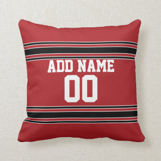 Team Jersey with Custom Name and Number Throw Pillows