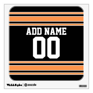 Team Jersey with Custom Name and Number Wall Decal