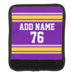 Team Jersey with Custom Name and Number Luggage Handle Wrap