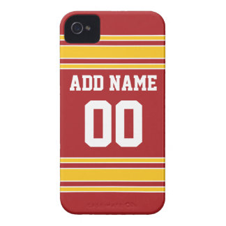 Team Jersey with Name and Number iPhone 4 Case