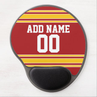 Team Jersey with Name and Number Gel Mouse Pad