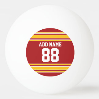 Team Jersey with Name and Number Ping-Pong Ball