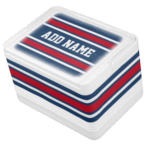Team Jersey with Name - red blue Cooler