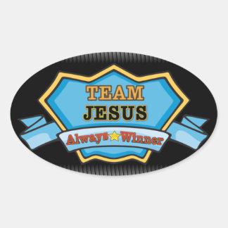 TEAM JESUS - ALWAYS WINNER OVAL STICKER