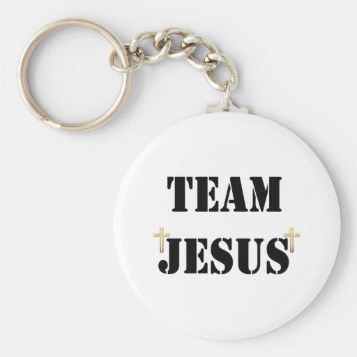 Team Jesus Basic Round Button Keychain