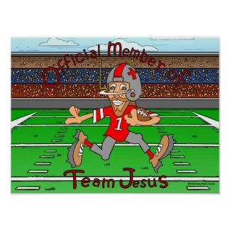 Team Jesus (Football) Poster