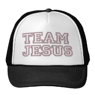 Team Jesus Striped Graphic Trucker Hat