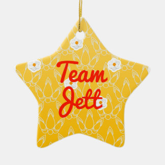 Team Jett Double-Sided Star Ceramic Christmas Ornament
