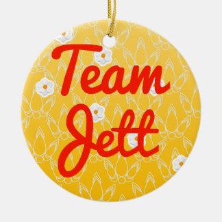 Team Jett Double-Sided Ceramic Round Christmas Ornament