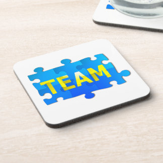 Team Jigsaw Puzzle Drinks Coaster