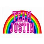 Team Justin Postcard