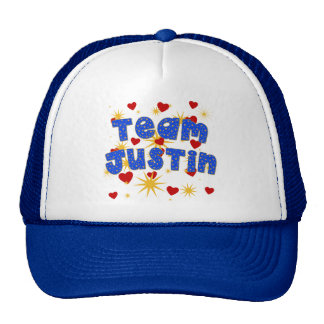 TEAM JUSTIN! T-shirts for Kids and Adults Trucker Hat
