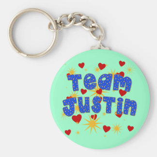 TEAM JUSTIN! T-shirts for Kids and Adults Keychain