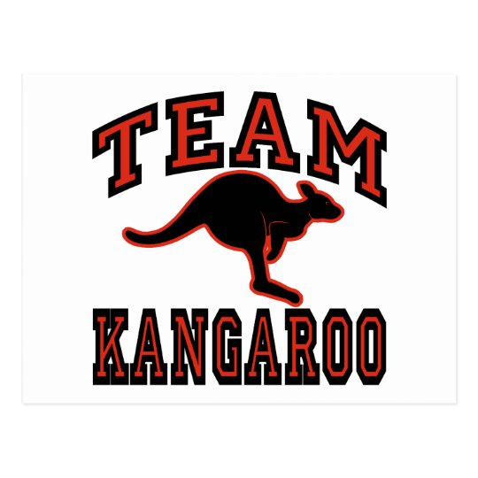 Team Kangaroo Postcard