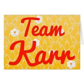 Team Karr Greeting Card