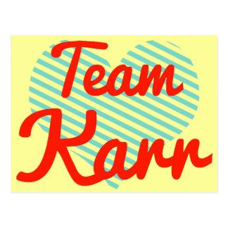 Team Karr Postcards