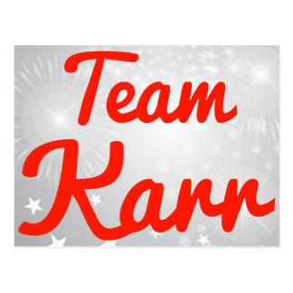 Team Karr Post Cards