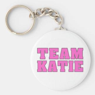 Team Katie Basic Round Button Keychain