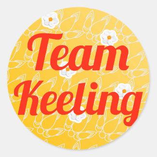 Team Keeling Classic Round Sticker