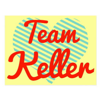 Team Keller Postcard