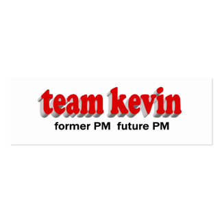 Team Kevin former PM future PM Business Card Templates