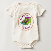 Team Kickin' It For Kynna Baby Bodysuit