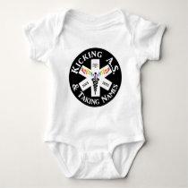 Team Kicking A.S. & Taking Names Baby Bodysuit