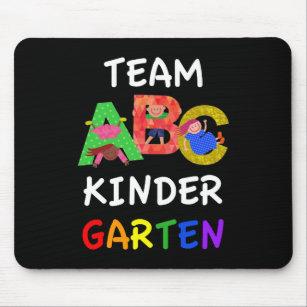 Team Kindergarten Back To School ABC Mouse Pad