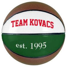 Team Kovacs Basketball at Zazzle