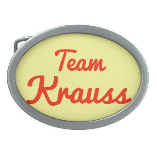Team Krauss Belt Buckles