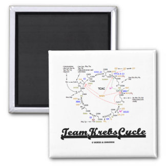 Team Krebs Cycle (Citric Acid Cycle - TCAC) 2 Inch Square Magnet
