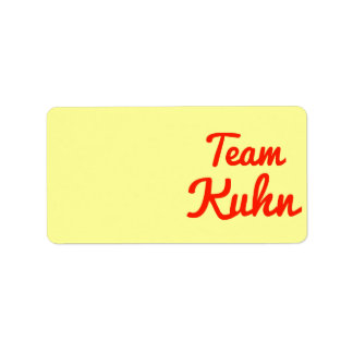 Team Kuhn Label