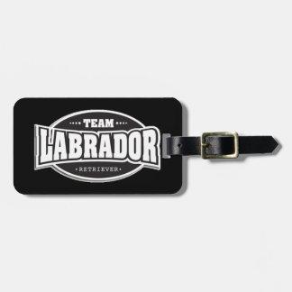 Team Labrador Retriever Bag Tag