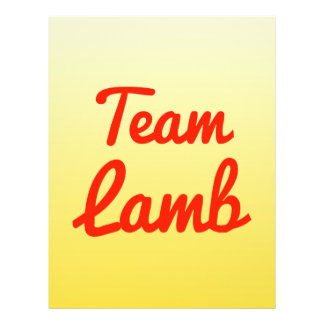 Team Lamb Full Color Flyer
